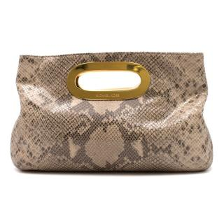Michael Kors Python Embossed Clutch Bag