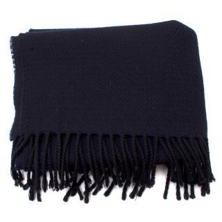 Armani Collezioni Navy Wool Scarf