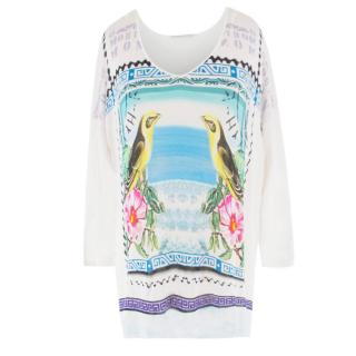 Mary Katrantzou White Patterned Top
