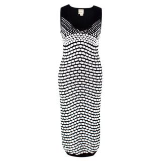 Artelier Nicole Miller Monochrome Knit Midi Dress