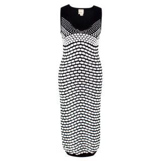 Artelier Nicole Miller Monochrome Knit Midi Dress