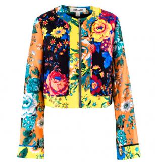 Diane Von Furstenberg Wool & Silk Blend Floral Jacket