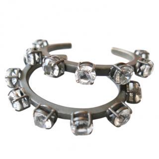 Miu Miu 2 Chunky Crystal Bracelets