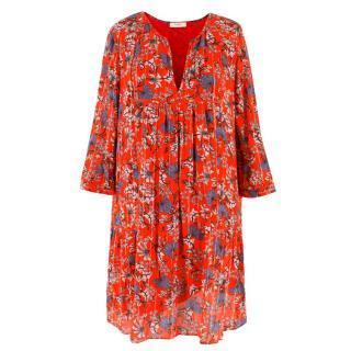 Ba&Sh Red Floral Printed Dress