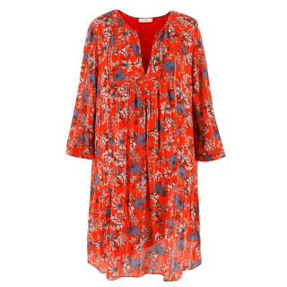 Ba&Sh Red Floral Printed Dress