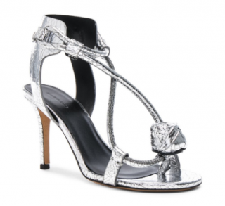 Isabel Marant 'ablee' metallic leather sandals