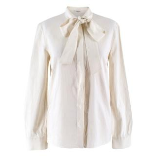 Vilshenko Cream Pussybow Shirt