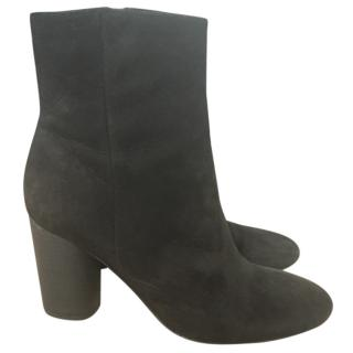 Sam Edelman Suede Block Heeled Ankle Boots