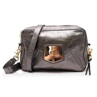 Botkier Pewter Metallic Envelope Satchel
