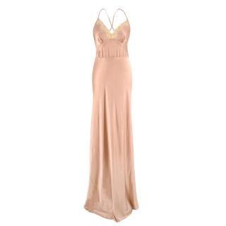 Jenny Packham Silk Pink Slip Gown