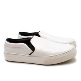 Celine Slip On White Leather Sneakers