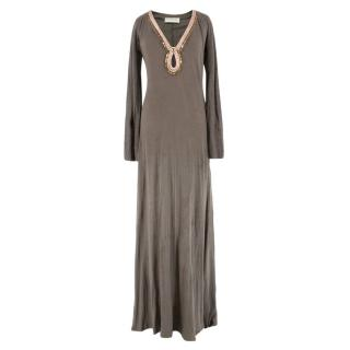 Emilio Pucci Grey Linen Maxi Dress