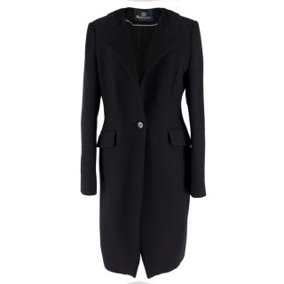 Aquascutum Black Wool Coat