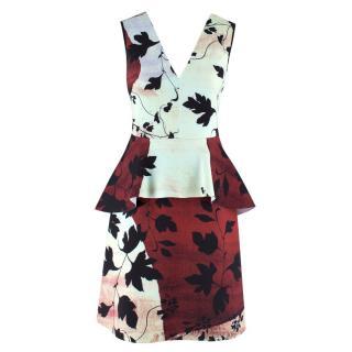 Clover Canyon Printed Peplum Dress