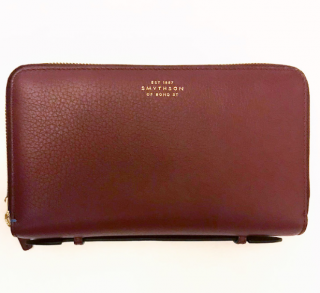Smythson Burlington Double-zip Travel Wallet