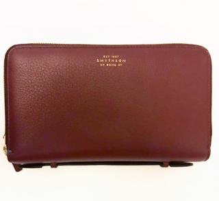 Smythson Burlington Double-zip Travel Wallet