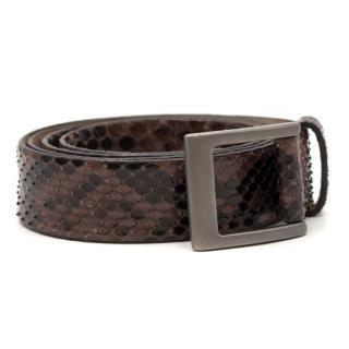 Brunello Cucinelli Python Belt