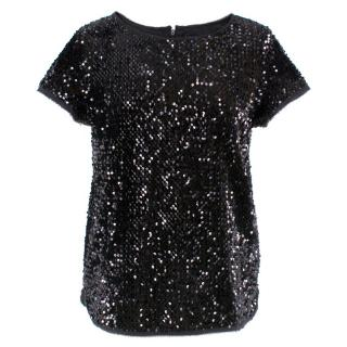 Zadig & Voltaire Black Sequin Top