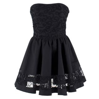 Capuccino Black Strapless Dress