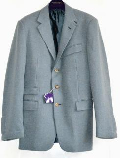 Ralph Lauren Purple Label 'Drake' blue wool jacket