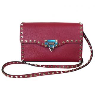 Valentino Small Red Rockstud Shoulder Bag