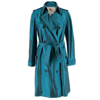 Burberry Iridescent Blue Trenchcoat