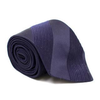 Duchamp Navy Striped Tie