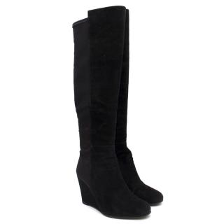 Stuart Weitzman for Russell & Bromley Black Wedge Boots