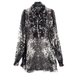 Alexander McQueen Sheer Silk Blouse