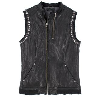 Zadig & Voltaire Black Leather Waistcoat