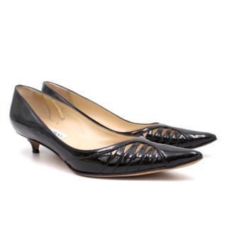 Jimmy Choo Black Kitten Heel pumps