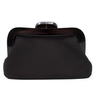 Lulu Guinnes Black Clutch Bag