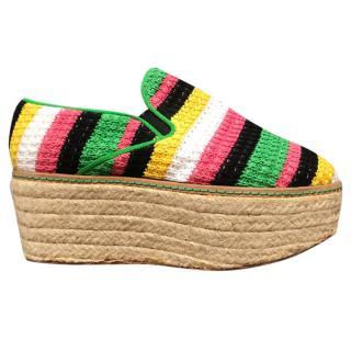 Missoni striped knit platform espadrilles