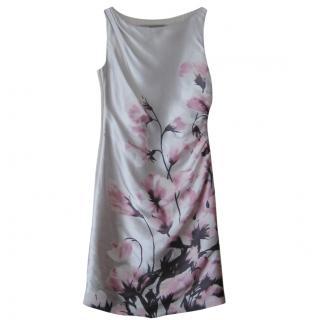 Valentino silk floral print shift dress