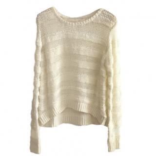 Maje Open Knit Striped Jumper