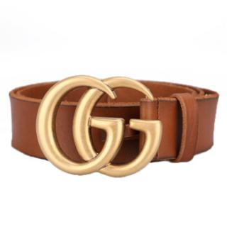 Gucci Men's GG Brown Leather Belt