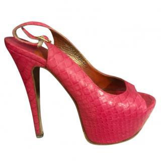 Gina Pink 'Blake' Platform Sandals