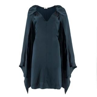 Issa Silk Navy Cape Dress