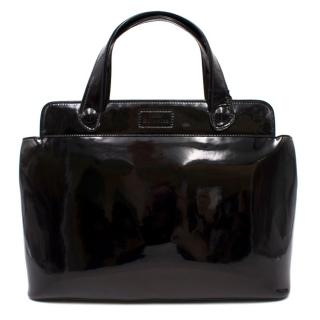 Lulu Guinness Patent Leather Large Top Handle Bag