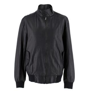 Nicole Farhi Men's Black Leather Jacket