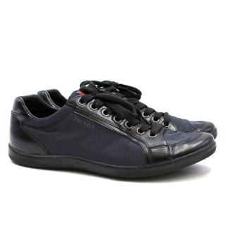 Prada Men's Navy and Black Trainers
