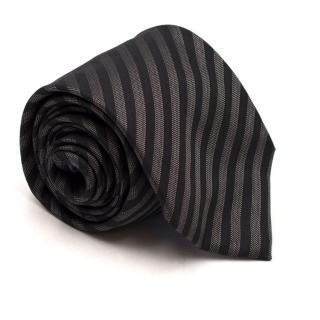 Richard James Black Striped Silk Tie
