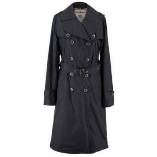 Burberry Black Nylon Trenchcoat