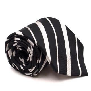 Thomas Pink Black and Silver Silk Tie