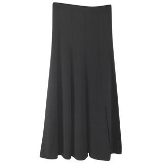 Sandro black midi skirt