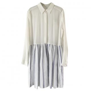 sandro blue& white shirt dress