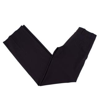 Celine Brown Wool Straight Trousers