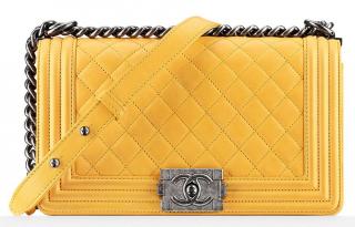 Chanel Yellow XL Boy Bag