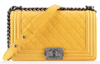 Chanel Yellow XL Boy Bag