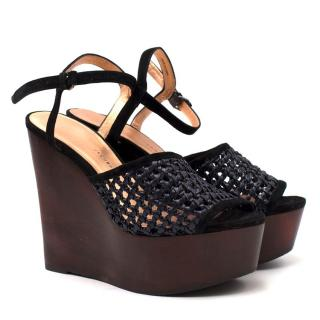 Marc by Marc Jacobs Black Crochet Wedges
